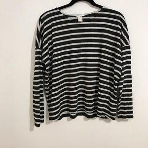 H&M stripe long sleeve top